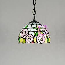 mediterranean floral pendant lights kitchen restaurant stained