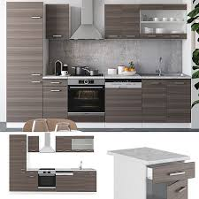 vicco küche r line 300 cm küchenzeile küchenblock einbauküche edelgrau