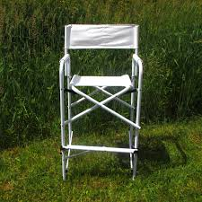 Professional Tall Folding Directors Chair by All Aluminum Tall Directors Chair By E Z Up