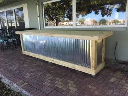 Outside Patio Bar Ideas by The Beer Pong 12 U0027 Corrugated Metal Rustic Outdoor Patio