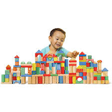 Play Kitchen Sets Walmart by 150 Piece Wooden Block Set Walmart Com