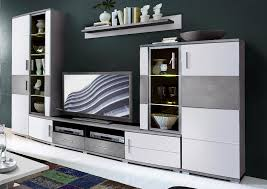 jam wohnwand inkl led beleuchtung weiß grau günstig möbel küchen büromöbel kaufen froschkönig24