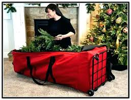 Christmas Tree Bag On Wheels Artificial Storage Containers Red Upright With Extra Large For Home