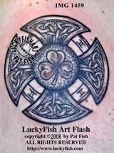 Irish Firemans Cross Celtic Tattoo Design