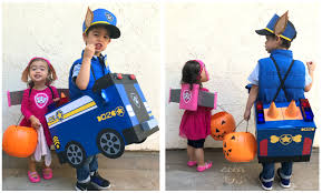DIY Paw Patrol Chase And Skye Halloween Costumes – Studio Xtine