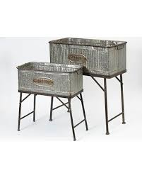 Here s a Great Price on Rectangular Galvanized Metal Planters Set