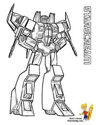 Starscream Transformers Coloring At YesColoring