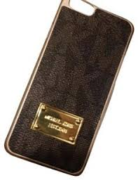 Amazon Michael Kors Brown leather look with gold trim Iphone