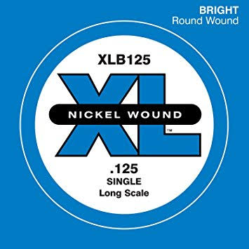 D'Addario Nickel Wound Bass Guitar Single String - X-Large, 0.125 Long Scale