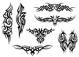 Small Tribal Tattoo Designs On A White Background In 2017 Real