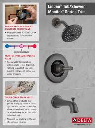 Delta Trinsic Roman Tub Faucet by Delta Linden 1 Handle 1 Spray Tub And Shower Faucet Trim Kit In