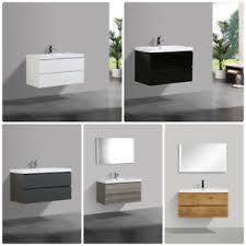 details zu unterschrank flat mit waschtisch designer badmöbel badezimmer möbel garnitur