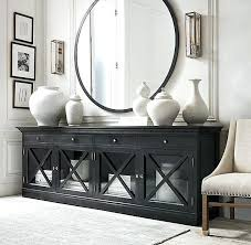 Sideboard Decor Best Ideas On Green Inside Fascinating Black Glass Sideboards Buffet Decorating