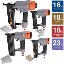Manual Floor Nailer Harbor Freight by Hdx Pneumatic Finishing Kit 4 Piece Hdx4pfnk The Home Depot