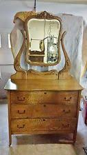 Tiger Oak Dresser With Swivel Mirror by Oak American Brown Antique Dressers U0026 Vanities Ebay