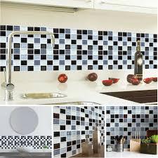 6pcs mosaik fliesenaufkleber selbstklebende klebefolie 3d