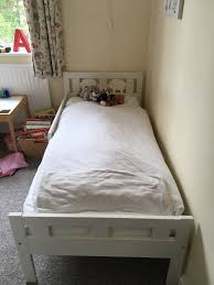 Ikea Kritter Bed by Ikea White Toddler Bed With Mattress In Bath Somerset Gumtree
