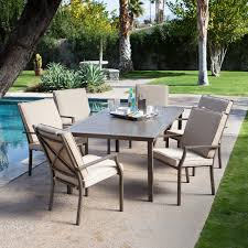 Patio Sets At Walmart by Coral Coast Bellagio Cushioned Aluminum Patio Dining Set Seats 6