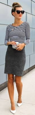 Grey Skirt Outfit 80