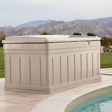 Suncast Outdoor Patio Furniture outdoor patio furniture deck box storage suncast resin 129 gallon