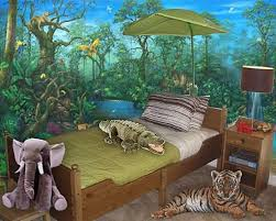 Colorful Jungle Themed Bedroom