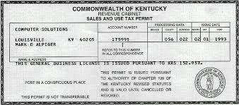 Ky Revenue Cabinet Louisville by Computer Solutions Business License Page