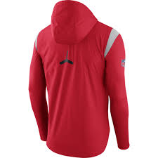 nike new england patriots red sideline fly rush half zip pullover