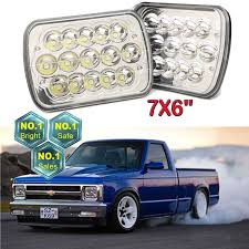 100 S10 Chevy Truck For Sale 7x6 LED Headlights HiLow Beam Chevrolet Sonoma