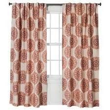 Target Pink Window Curtains naturals medallion curtain panel red orange 54