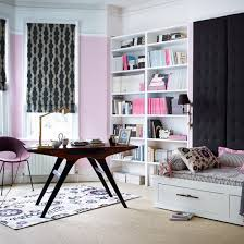 Pink Home Office With Day Bed