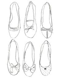 Ballerinas More Coloring Pages Shoes