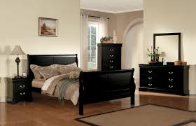 louis phillipe iii queen sleigh bed in black 19500q