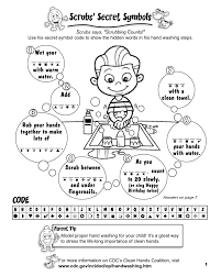 Kids Coloring Page Hand Washing For Pages At