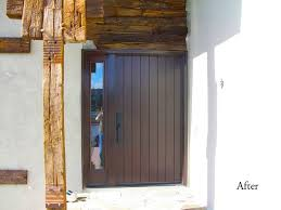 42 Inch Rustic Style Door With Sidelight