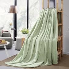 plaids canapé plaids vert velours flanelle couvertures de canapé jetés de lit sofa