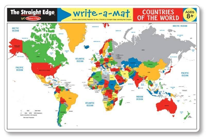 Melissa and Doug Countries of the World Write-A-Mat