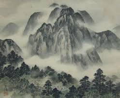 Japanese Mountains Painting