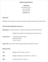 Sample Resume Format Functional Resumes Styles Examples For Cna Instructor