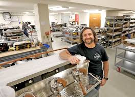 Slayer Espresso President And CEO Jason Prefontaine On The Factory Floor With A Steam X