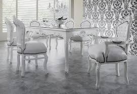 casa padrino barock esszimmer set weiß weiß esstisch 6