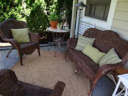 The Nest at Finch Rest Patio Wicker Furniture Makeover