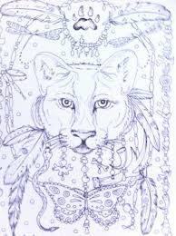 Coloring Pages Of Spirit Animals About For Big People On Dovers