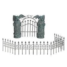 Halloween Cemetery Fence by Buy Mini Spooky Town Halloween Village Cemetery Gate U0026 Fence Set