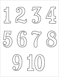 Coloring Pages Of Numbers 1 10