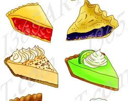 OFF Slice Pie Clipart Dessert Digital Scrapbooking Party Invitations