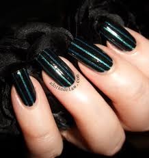 Black And Green Striped Nails Filthy Gorgeous Twilight Color Club Kissy