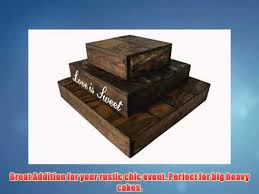Rustic Wedding Country Barn Farmhouse Cake Cupcake Stand 3 Tier Wooden
