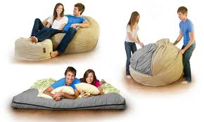 CordaRoys Corduroy Convertible Beanbag Chair Bed