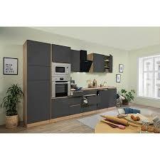respekta premium küchenzeile glrp345hesggke breite 345 cm