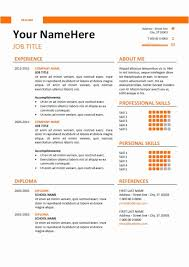 Ms Word Resume Template Fice Templates